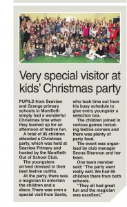 Evening Telegraph Xmas party article